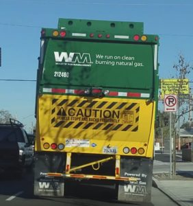 Waste Management garbage truck